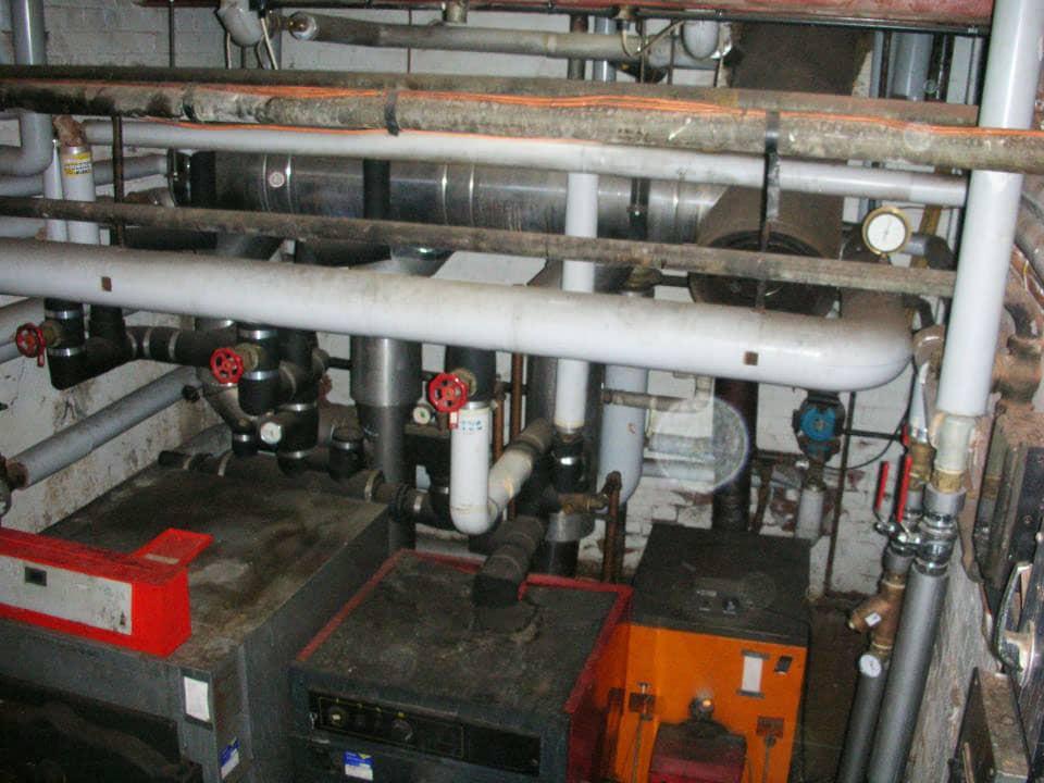 Inside of a boiler room