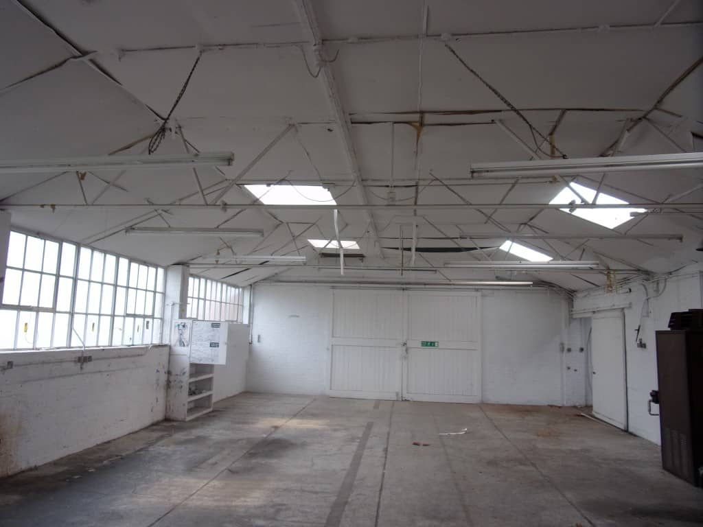 Inside of an empty white building