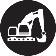 Brown digger icon