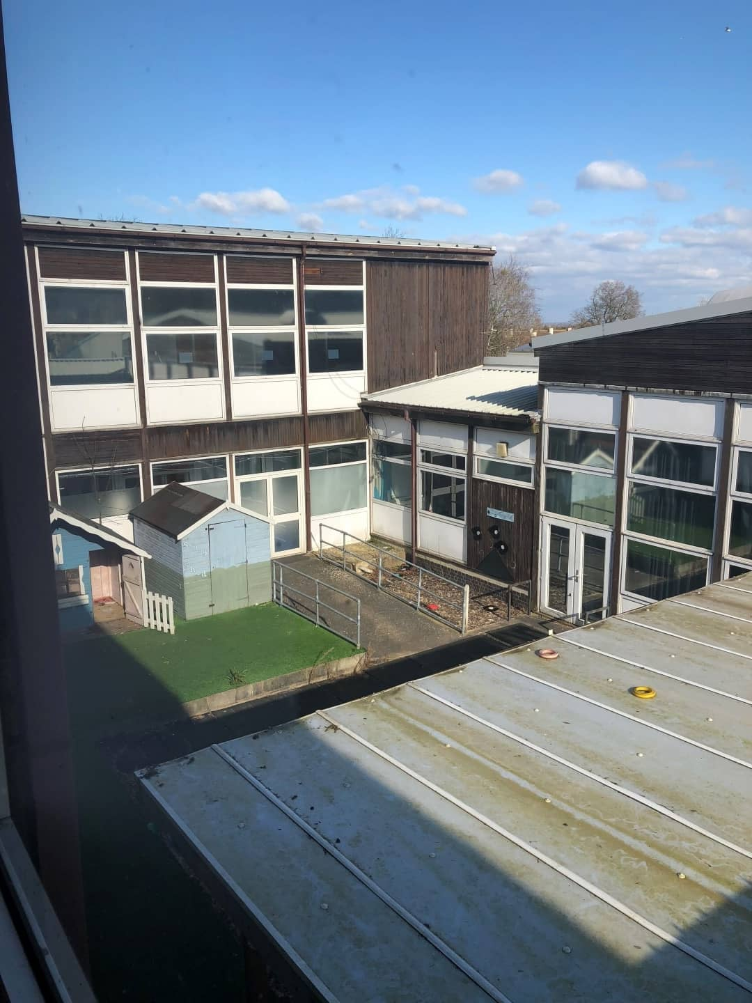 Outside view of the Moat School from the roof
